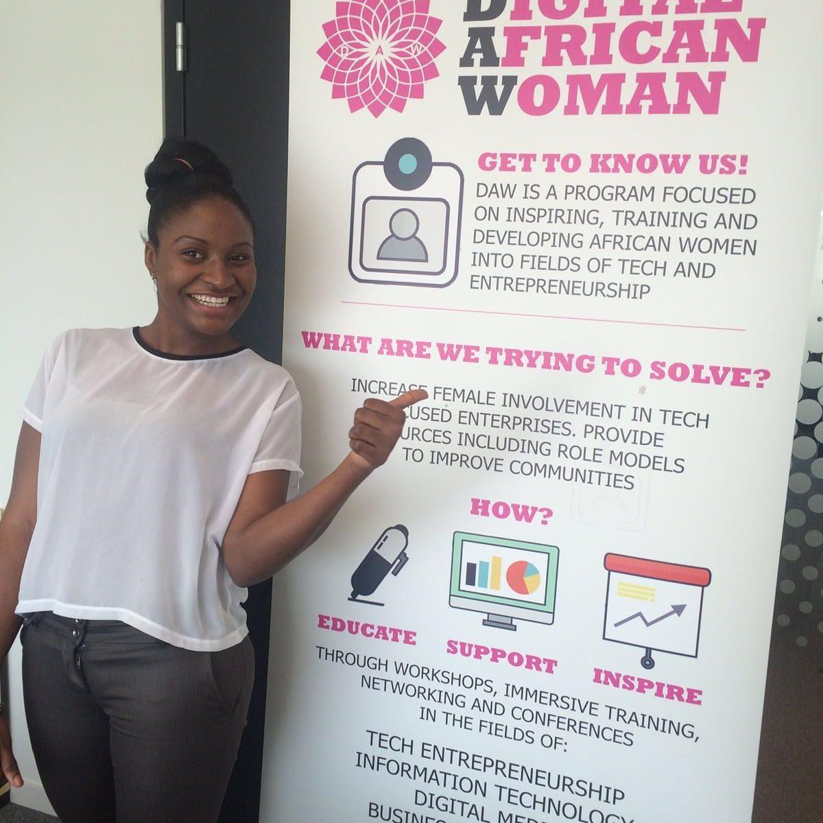 Digital African Woman